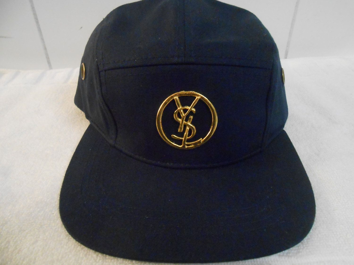 95ea48cc6 YSL Yves Saint Laurent 5 panel Leather Strap Back by XclusiveGoods, $58.00