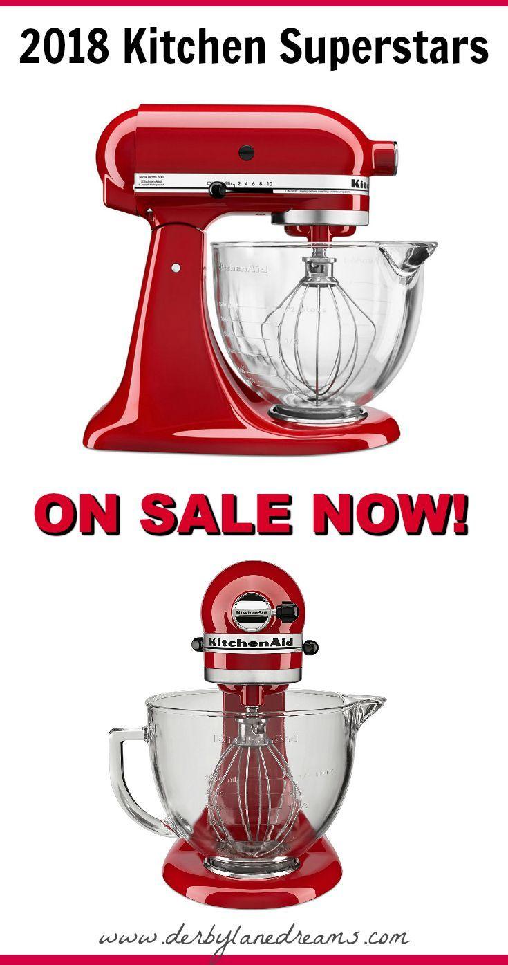 This 5-quart KitchenAid Mixer with Glass bowl and flex edge beater ...