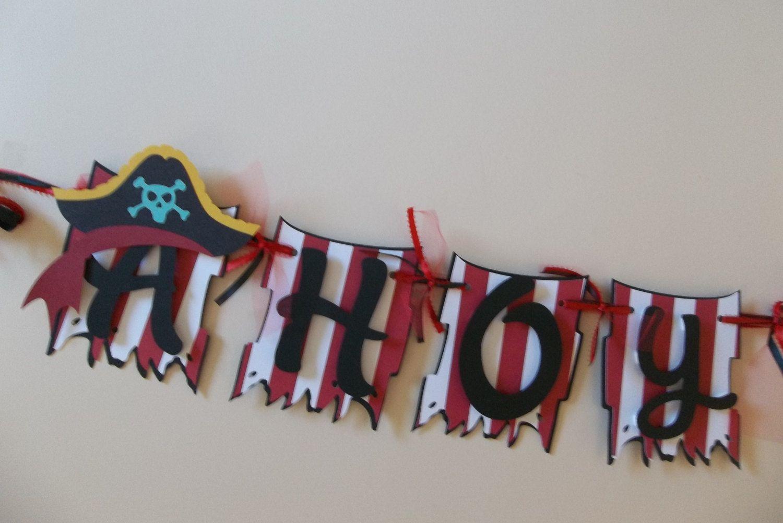 Ahoy Mateys banner/ Pirate banner   Pinterest   Piratas