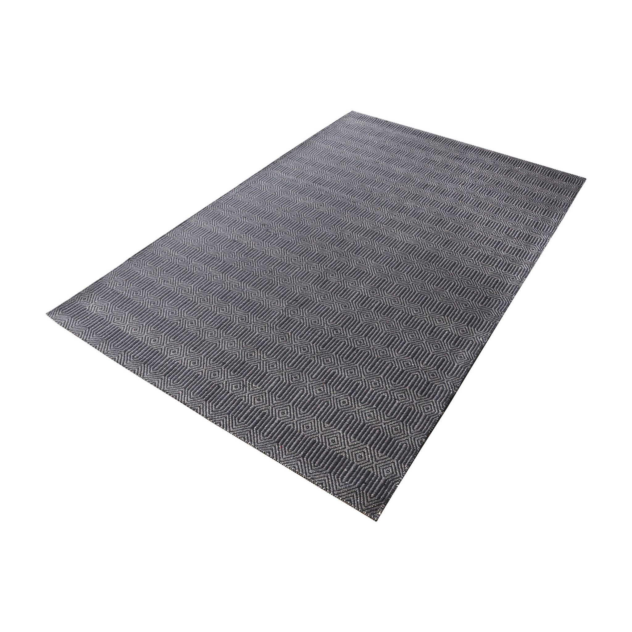 Lazy Susan Ronal Handwoven Cotton Flatweave In Charcoal - 3ft x 5ft 8905-090