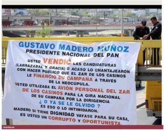 Gustavo Madero del PAN..ni modo que no..