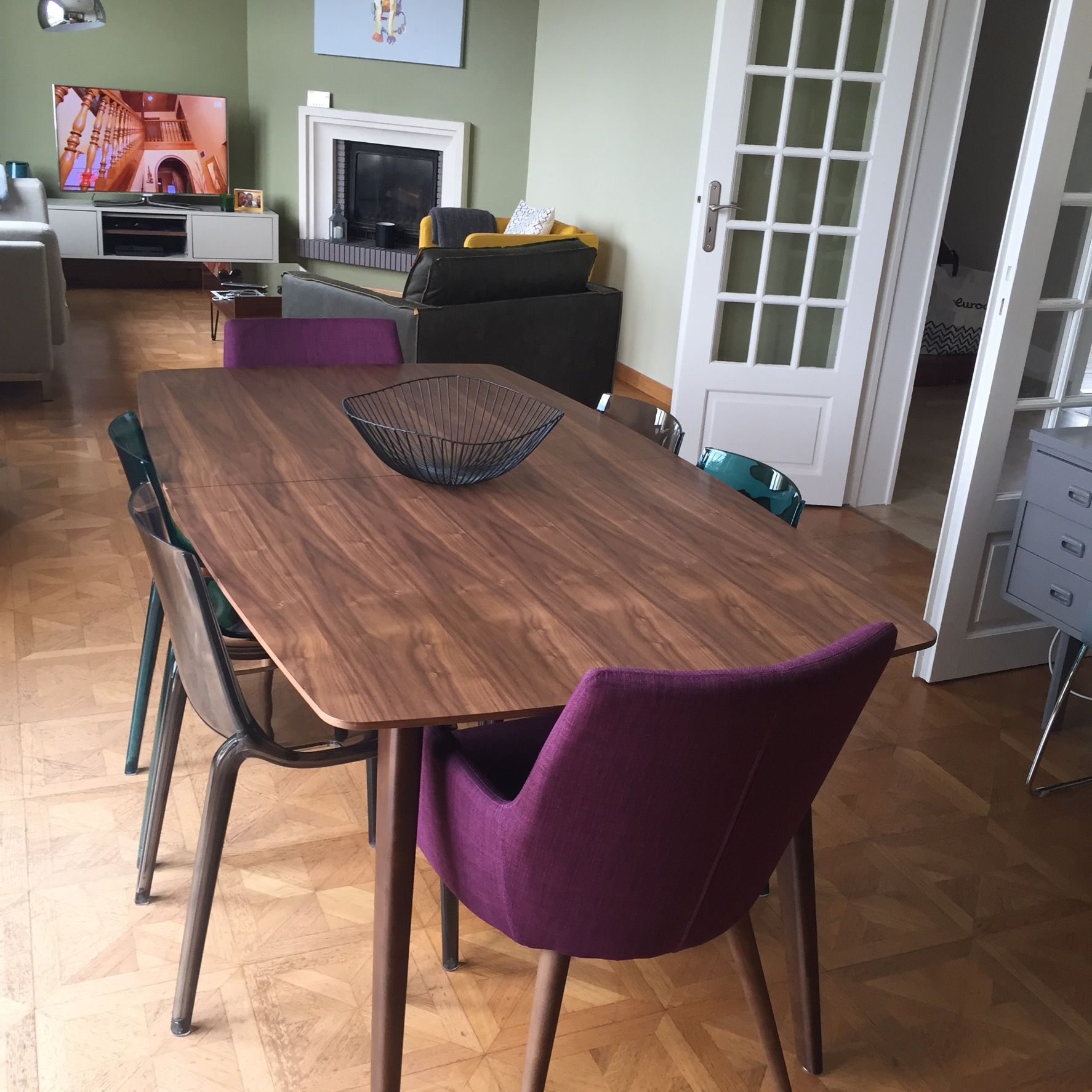 Table 224 Manger Design Extensible Noyer L180 230 Fifties En