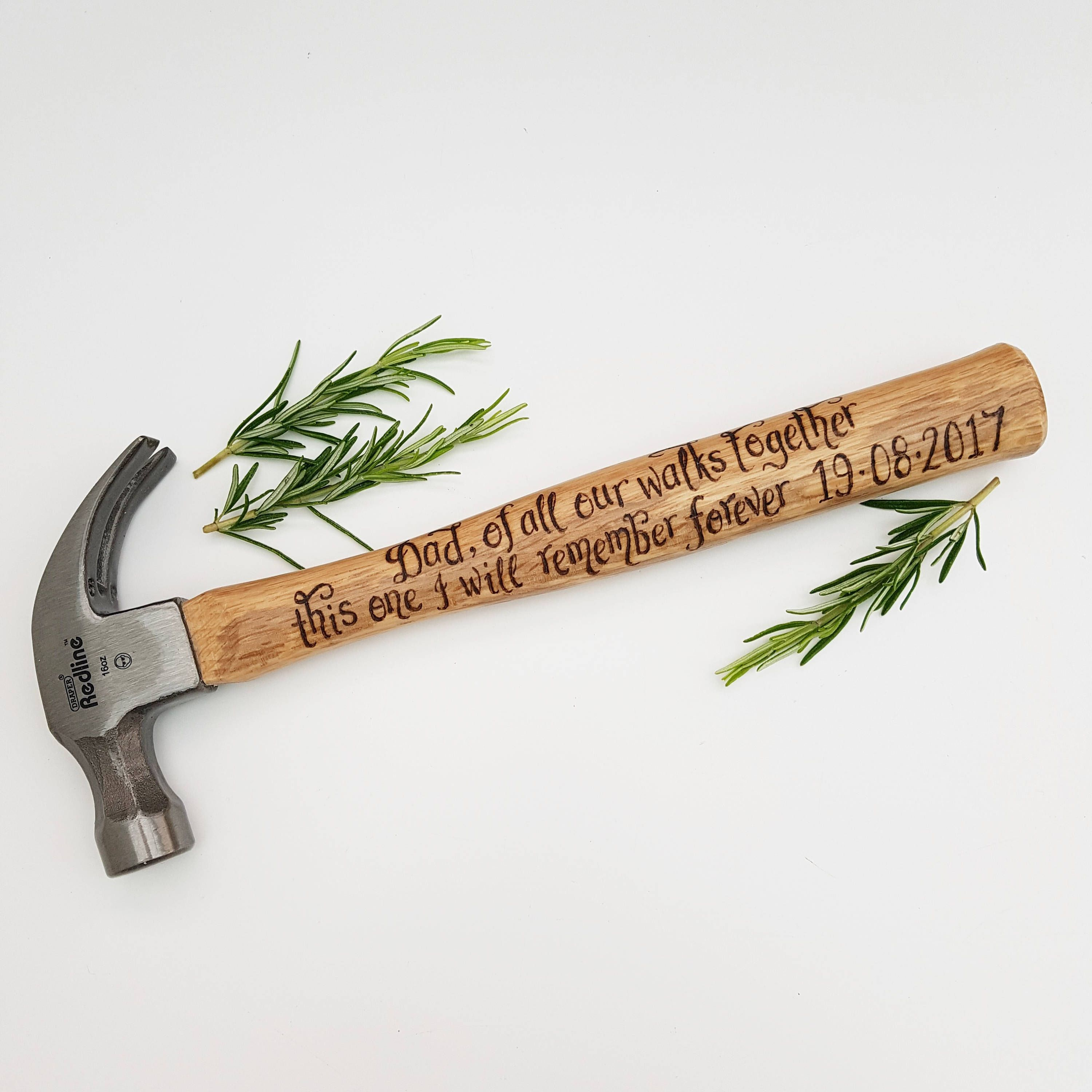 Walk Down The Aisle Gift Personalised Hammer Custom Gift Idea Father of the Bride Gift from Daughter Wedding Day Thank You Gift