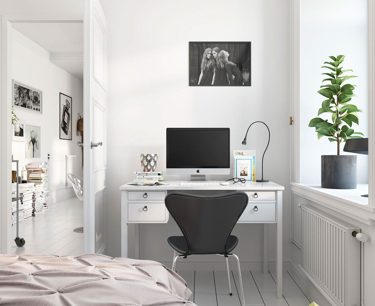 Bright Scandinavian Decor In 3 Small One-Bedroom Apartments ...