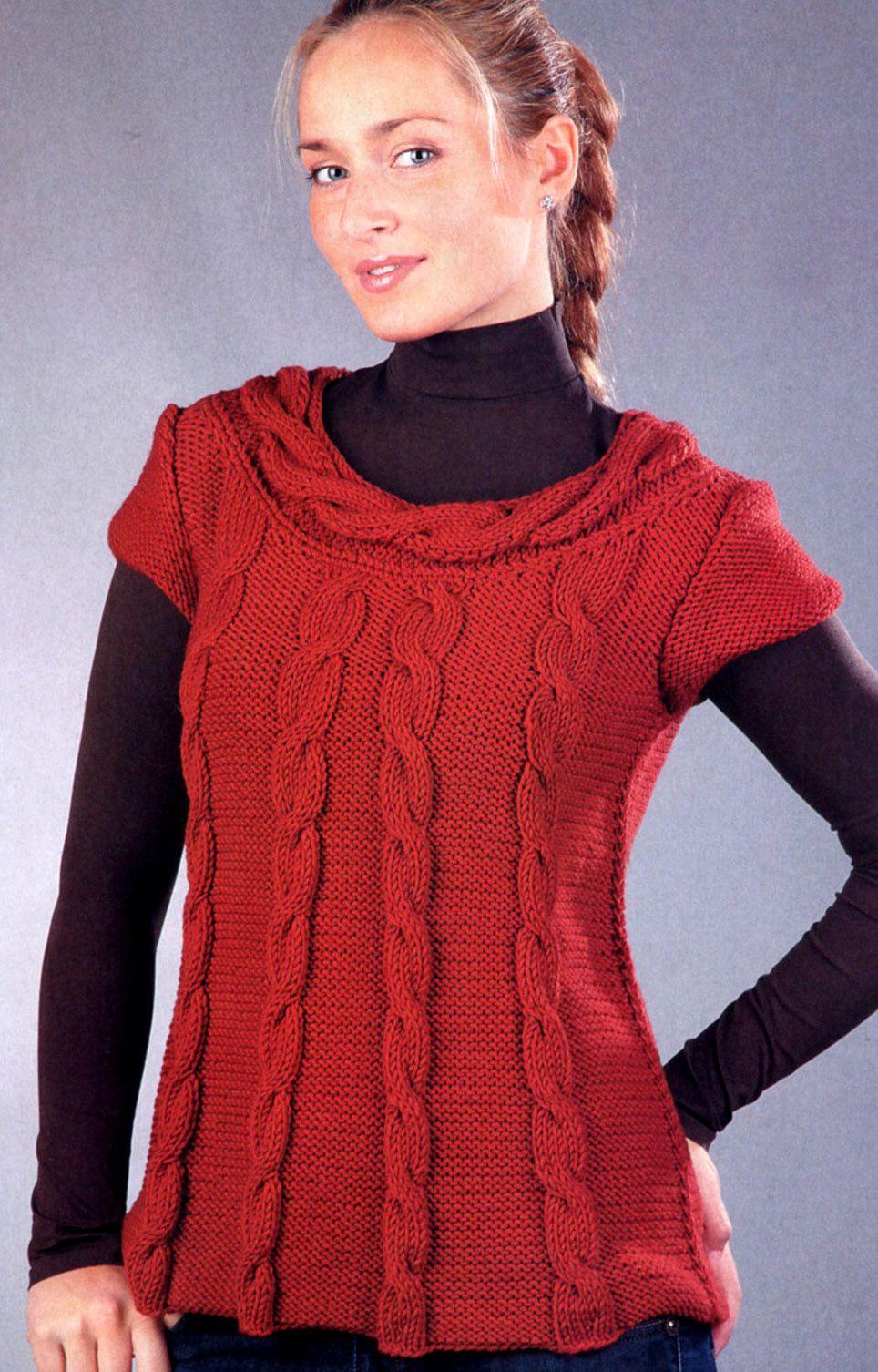 Pulli Mit Zopf Am Ausschnitt Kostenlose Strickmuster Knitting