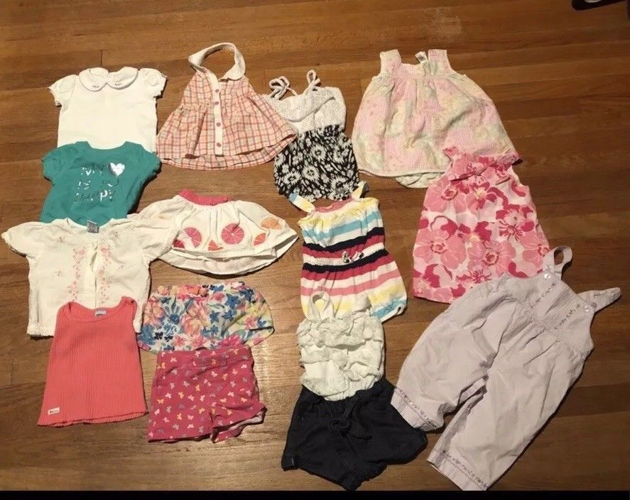 3f6000ec2 Baby Girl 12-18 Month 14 Piece Spring Summer Clothing Lot  fashion ...