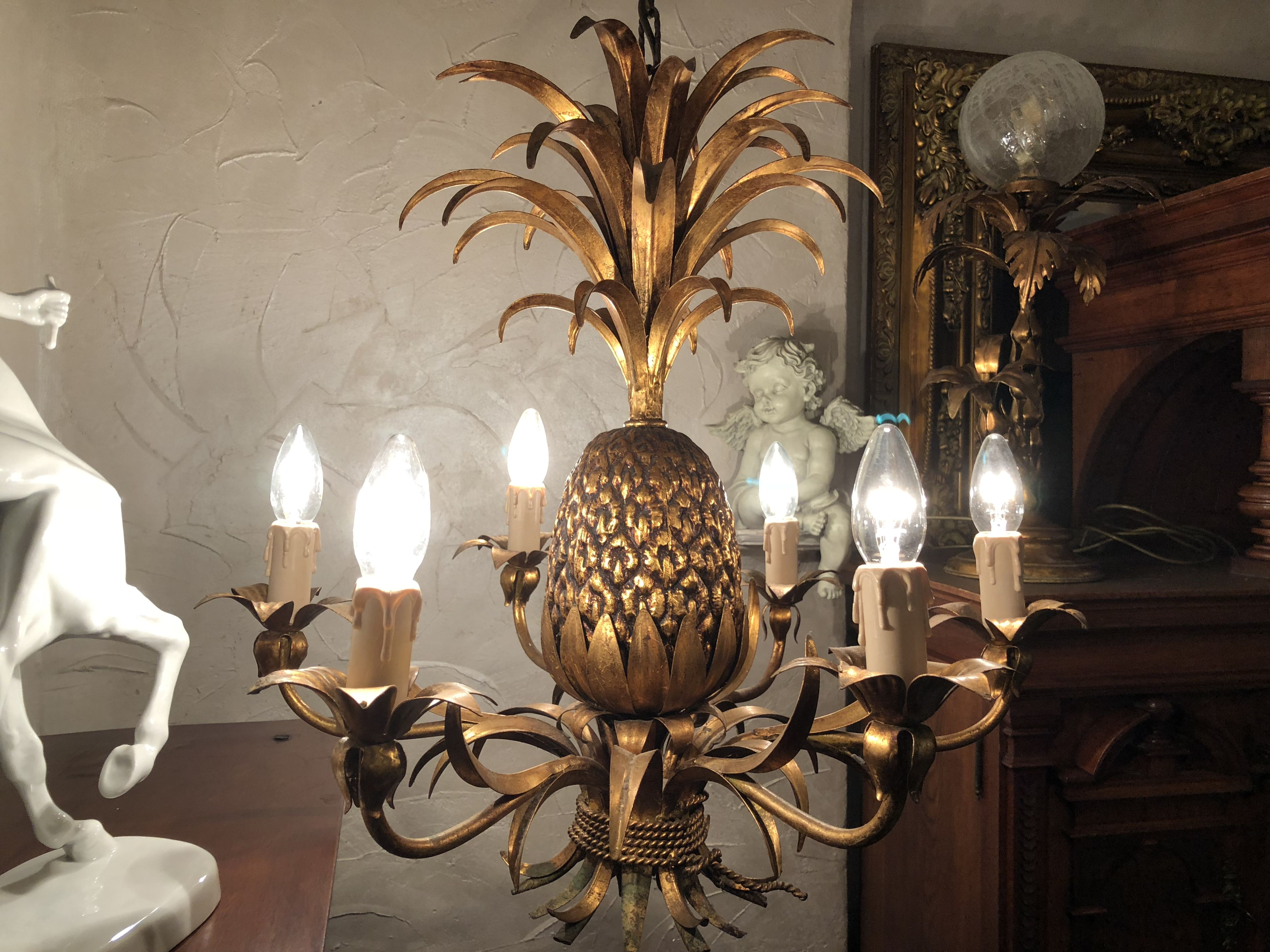Antike Ananas Pineapple Maison Charles Lampe  Lampen antik