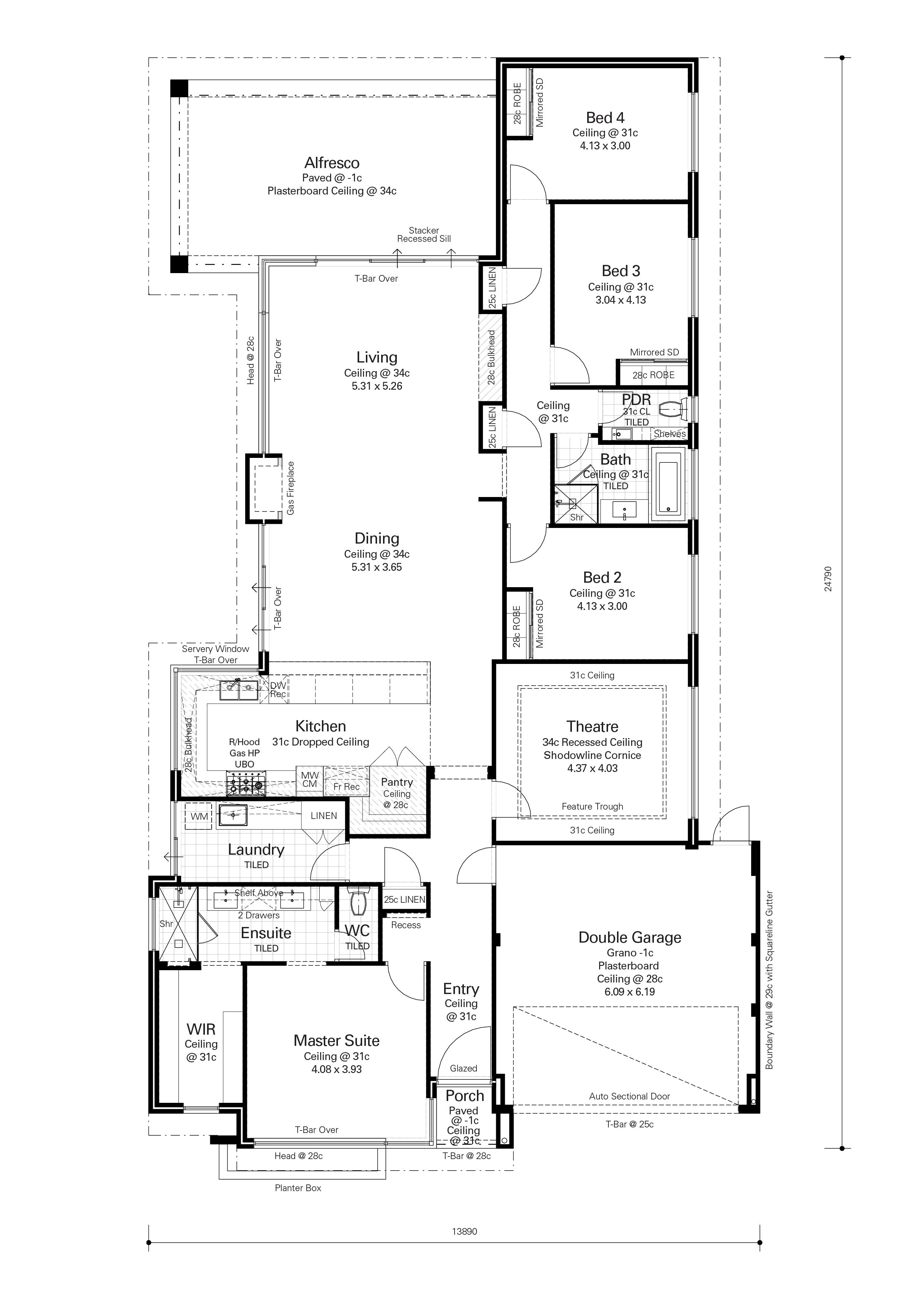 Floor Plan Friday: U-shaped kitchen with servery and ... on cape cod house plans with garage, narrow house plans with garage, duplex plans with garage, l-shaped house with garage, craftsman house plans with garage, curved house plans with garage, house plans with angled garage, tower house plans with garage, rancher house plans side garage, bungalow house plans with garage, u-shaped spanish house plans, saltbox house plans with garage, square house plans with garage, split level house plans with garage, tiny house plans with garage,