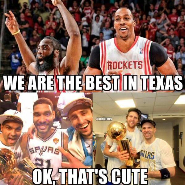 Houston Rockets Funny: Houston Rockets Vs. San Antonio Spurs Vs. Dallas Mavericks