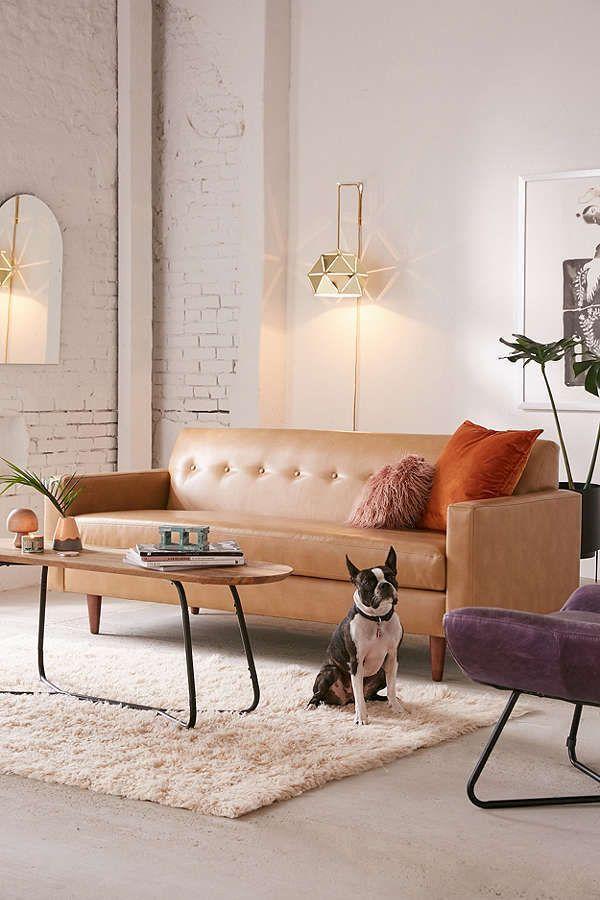 Urban Outfitters Sydney Recycled Leather Sofa Scandinavian Design Interior Living Scandinavian In Brown Sofa Living Room Leather Sofa Brown Leather Sofa