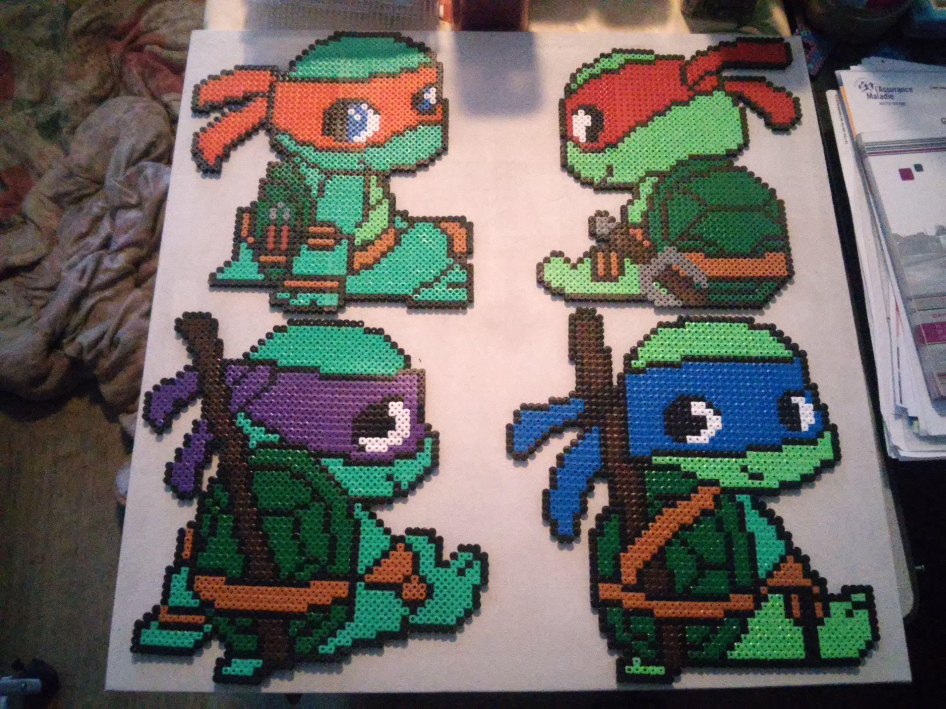 perle hama bbs tortues ninja - Tortues Ninja Tortues Ninja