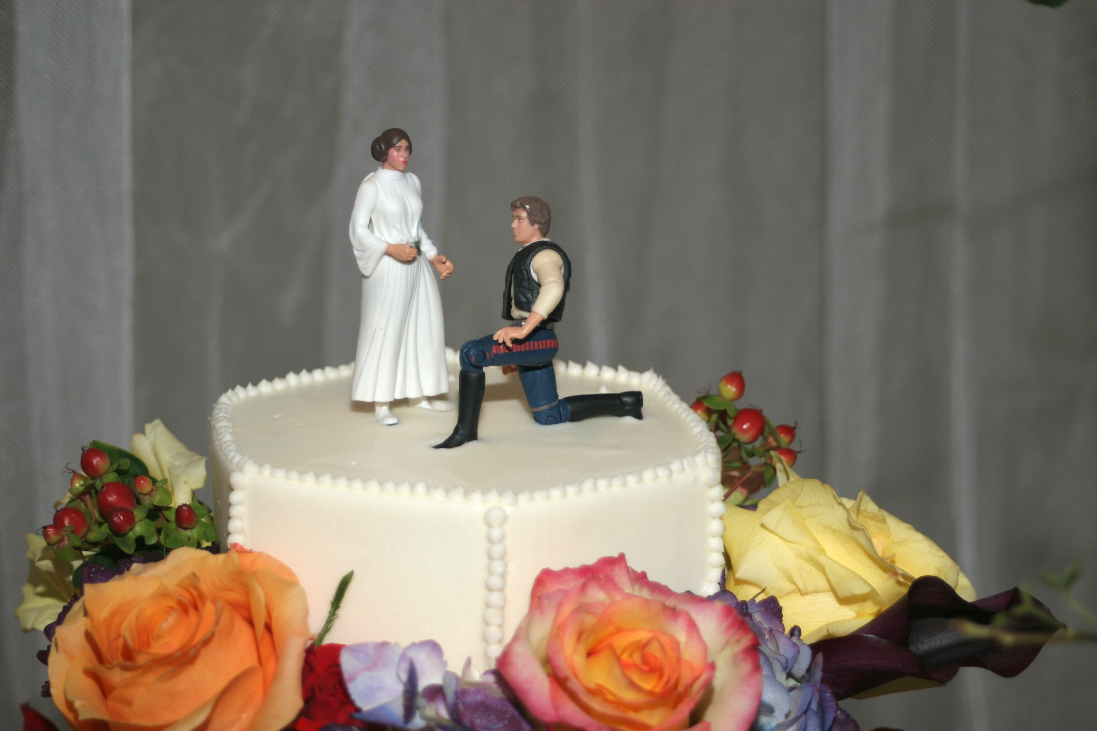 Action Figure Wedding Cake Toppers