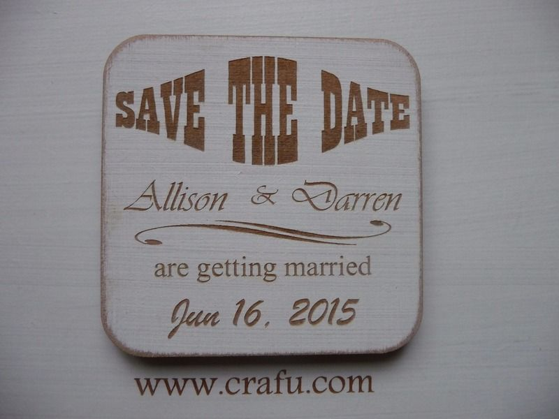 Personalised+Save+the+Date+Magnets+-+1+Sample+de+Craf'u+sur+DaWanda.com