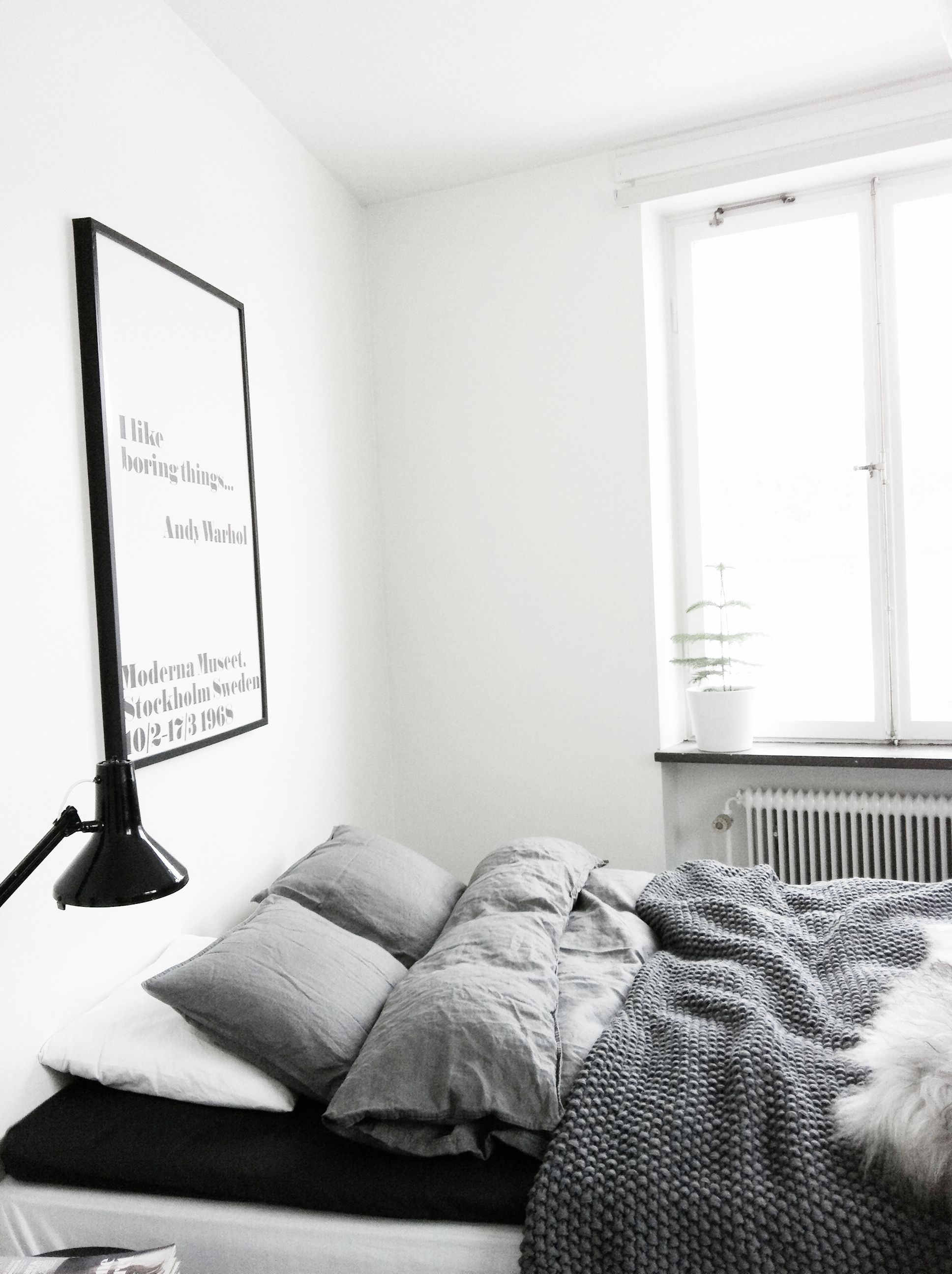 Wohndesign interieur schlafzimmer all grey bedroom  andwhatelse  sleeping love  pinterest