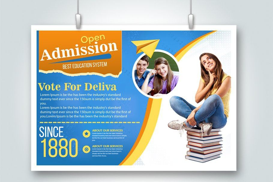 Admission Open Horizontal Flyer Temp Flyer Template Flyer Free