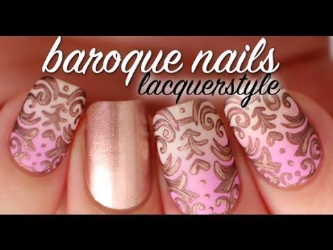 Bella10 Nails Loves This Baroque Nail Art Tutorial Lacquerstyle