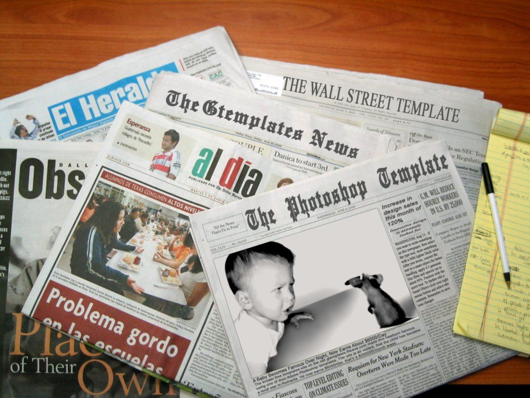 Newspaper Template  Templates    Newspaper And Template