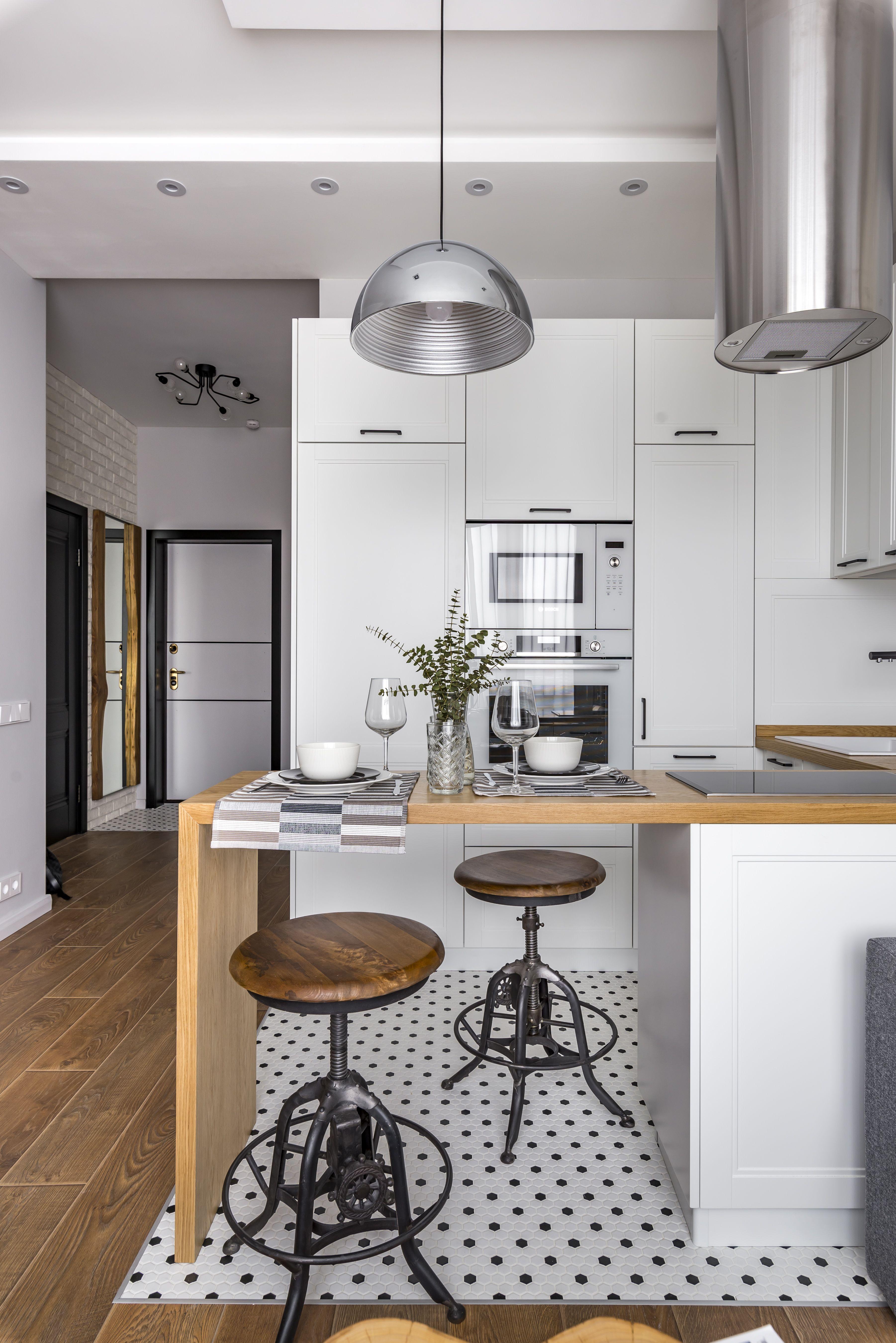 квартира в стиле лофт лофт в интерьере кухня гостиная