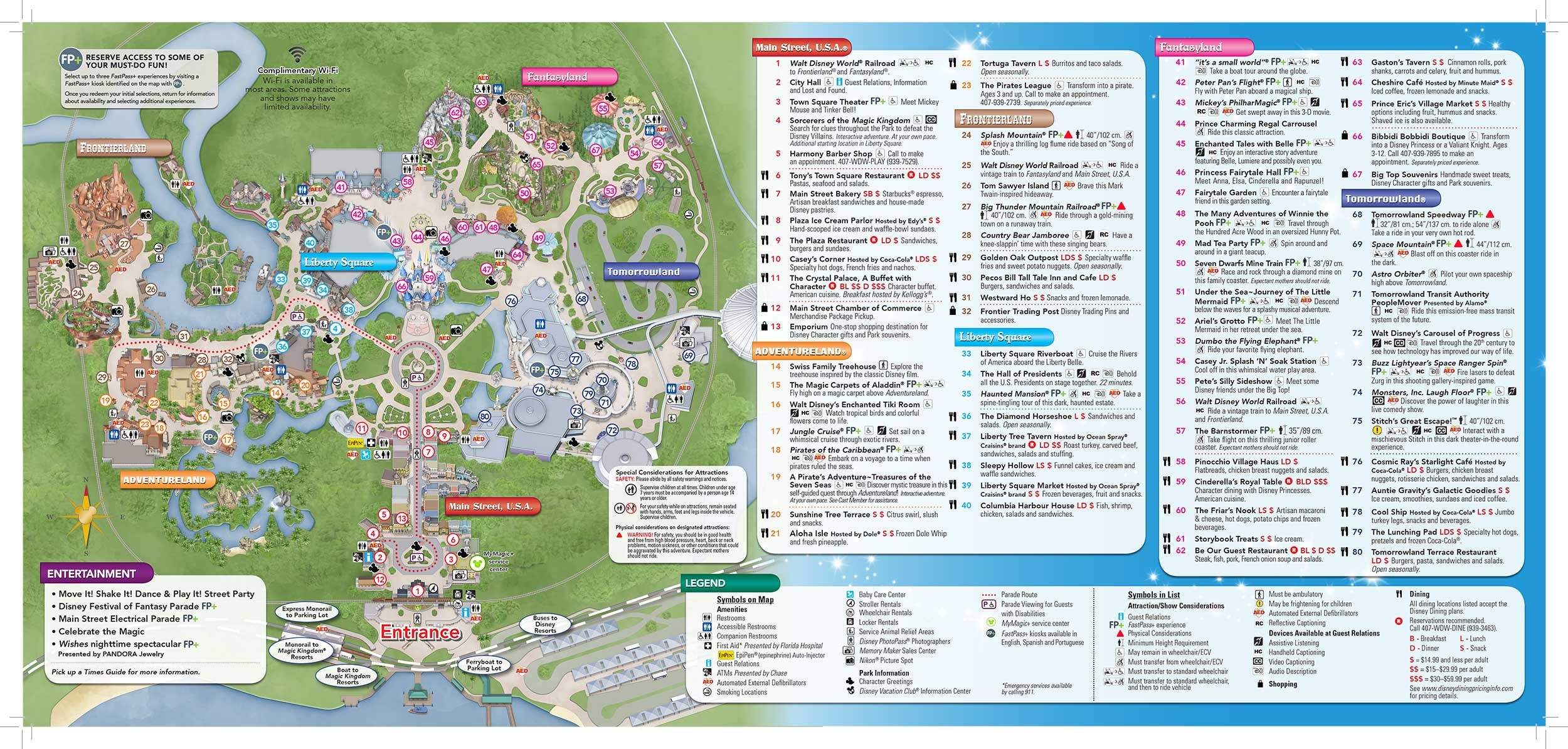 Printable Map Frontierland