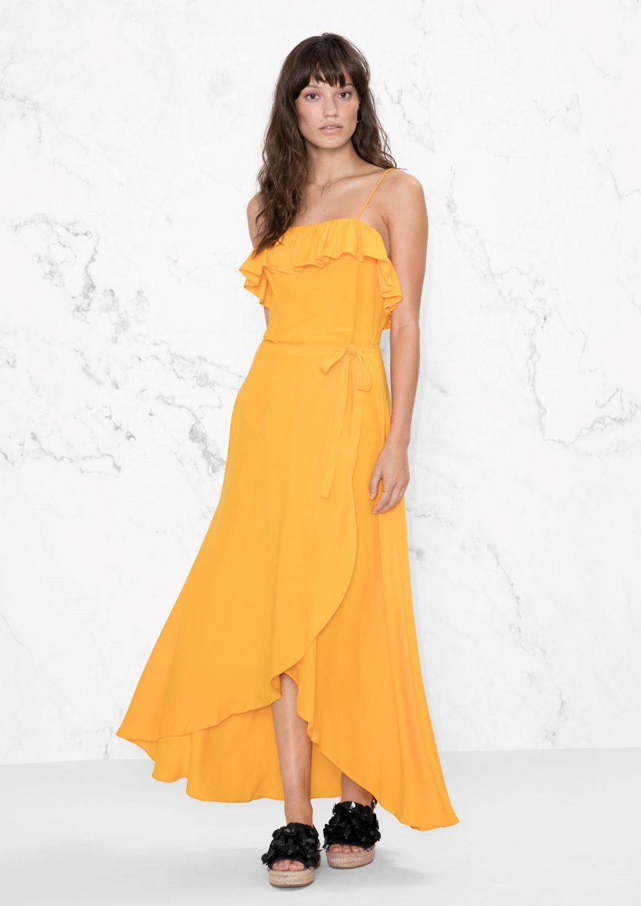 e2fc27d283d8c & Other Stories image 1 of Frill Dress in Yellow | dresses | Dresses ...