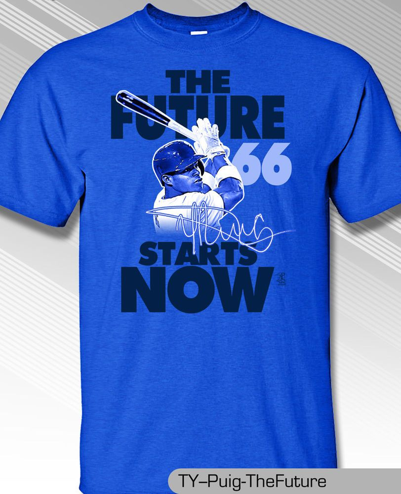 YASIEL PUIG, LOS ANGELES DODGERS FUTURE IS NOW Shirt #MLBPA #LosAngelesDodgers