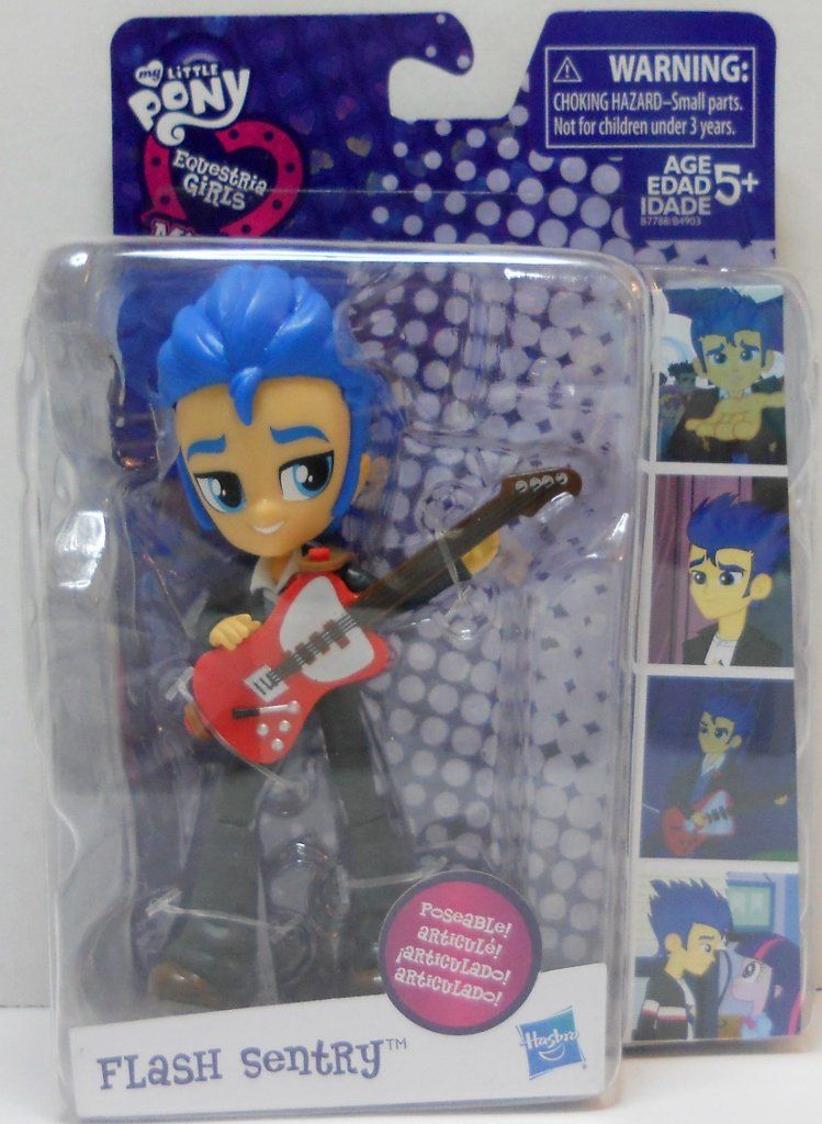 MY LITTLE PONY EQUESTRIA GIRLS MINI POSEABLE FLASH SENTRY COLLECTOR FIGURE NEW