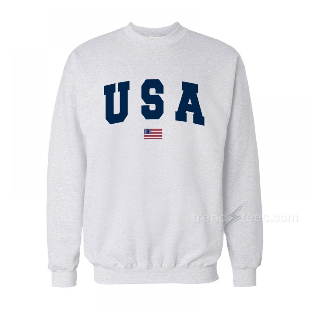 78f8ce1e0d6e Team USA Olympic Flag Sweatshirt For Women's or Men's Get It Now >>