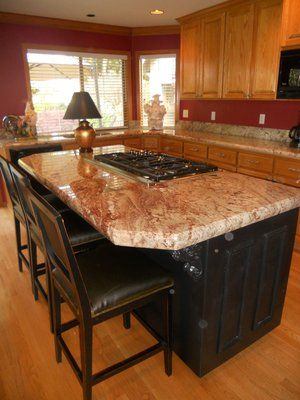 3 Cm Laminated Sienna Bordeaux Yelp Kitchen And Bath Remodeling Kitchen Remodel Living Room Kitchen