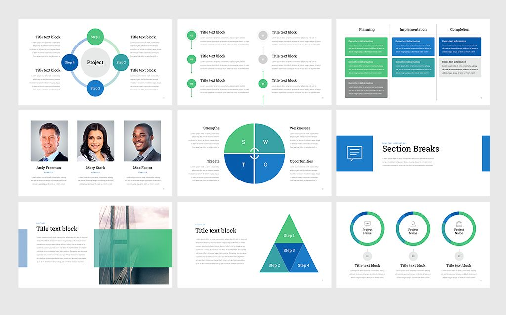 Project Status Professional Powerpoint Template 68531 Trabalhos