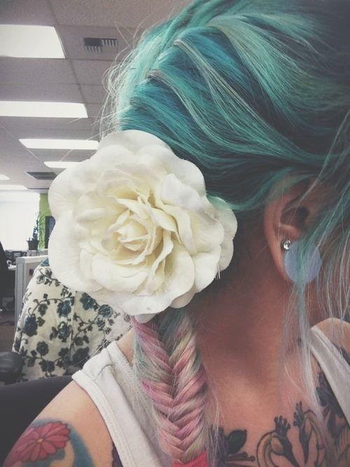 Flower. New color. Pink. Blue.