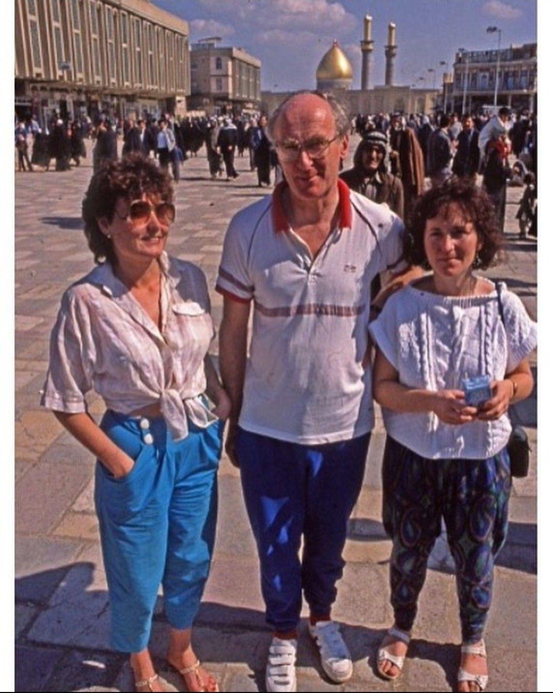 سائحين اجانب في مدينة كربلاء فترة الثمانينات من القرن الماضي Olds Hard Hat Fashion