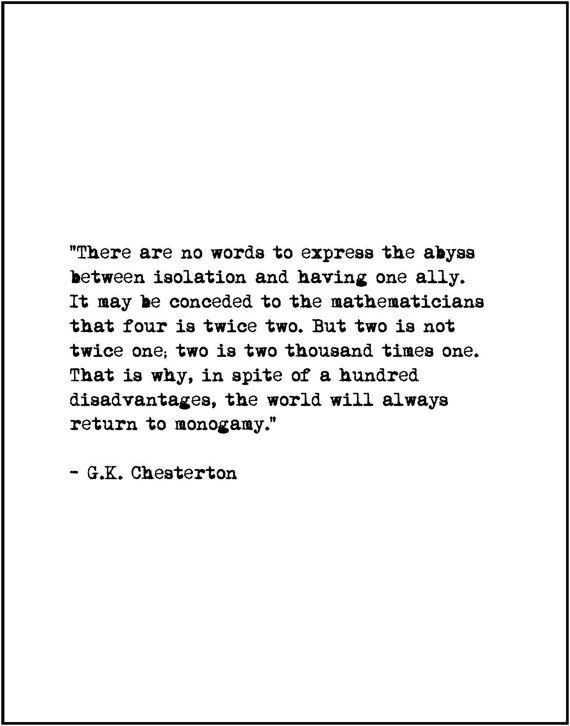 Gk chesterton on marriage