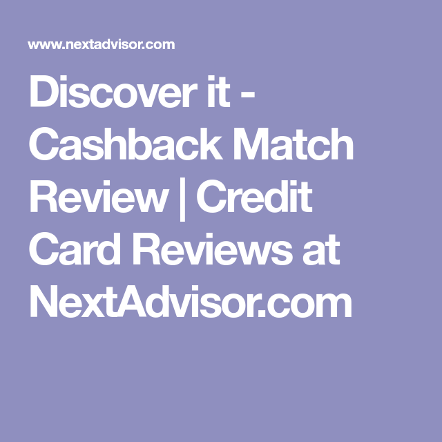 After which, the camera will launch and you will then need to scan your credit or debit cards. Discover it - Cashback Match Review   Credit Card Reviews at NextAdvisor.com   Credit card ...