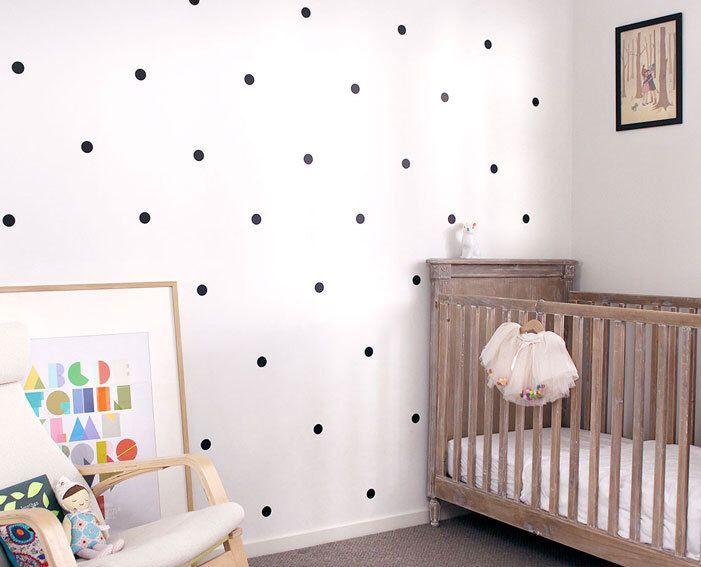 Polka Dot Spots Pattern Faux Wallpaper Removable Vinyl Wall Etsy Removable Vinyl Wall Art Polka Dot Decal Polka Dot Walls