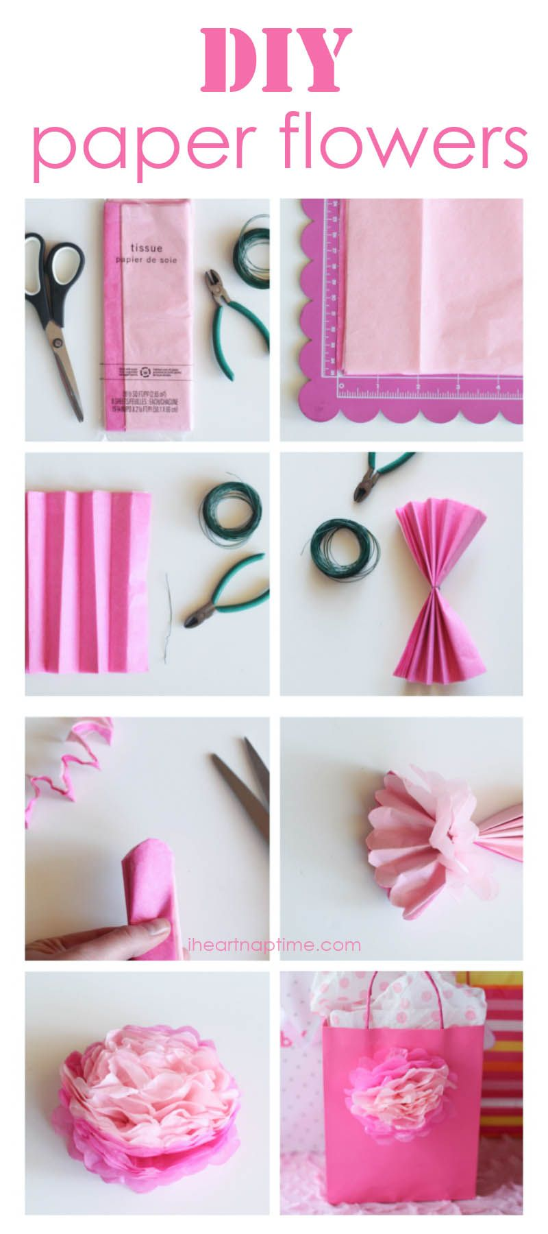 How To Make Tissue Paper Flowers Pins I Love Pinterest Paper