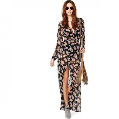ROBE LONGUE IMPRIMÉ FLORAL http://glamstylechic.ca/shop/index.php?id_product=8&controller=product