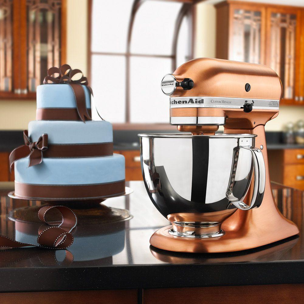 International home housewares show 2013 kitchenaid custom - Kitchenaid Ksm152pscp Satin Copper Custom Metallic Series 5 Qt Countertop Mixer