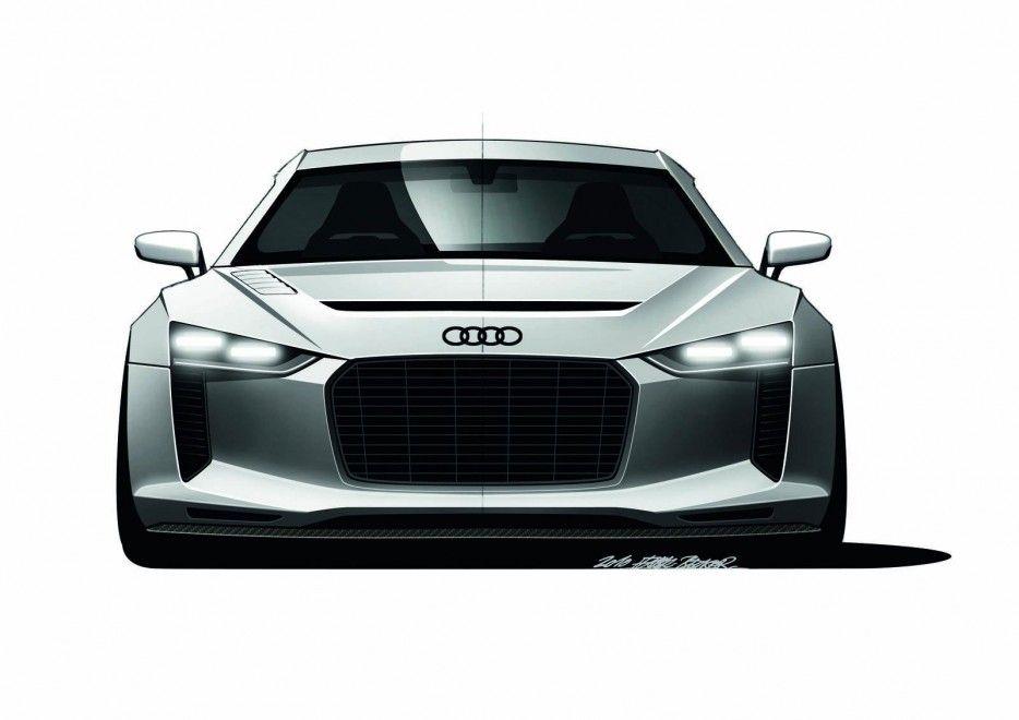 Audi Audi Quattro Concept Sketch Front View Audi Quattro Concept