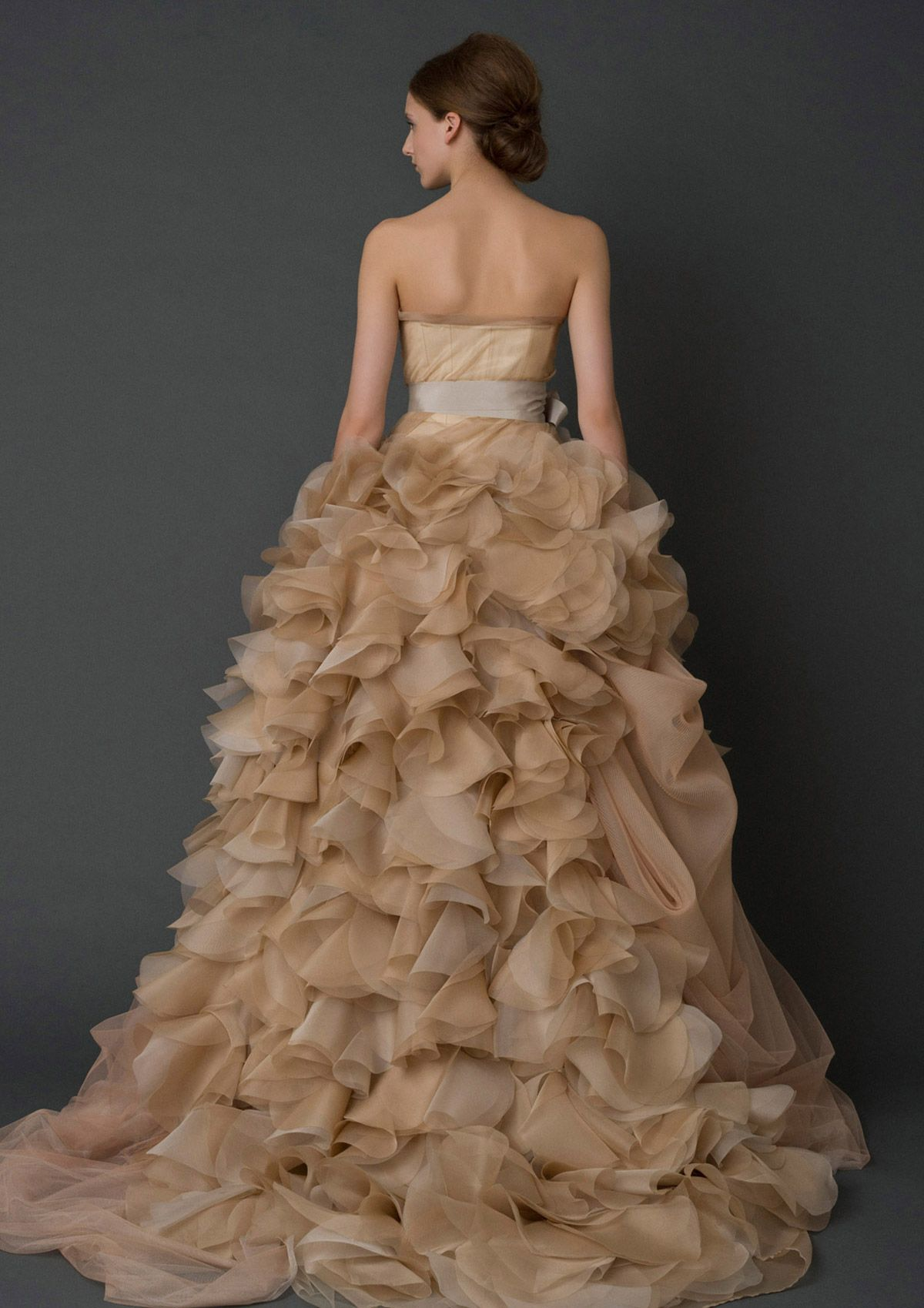 Vera wang pink wedding dress  Wedding Dresses Bridal Gowns by Vera Wang ud the back of the dress