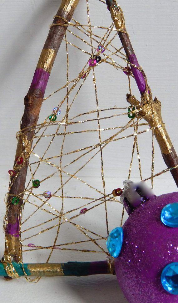 Dreamcatcher Christmas Ornament Handmade by FunnyLittleBirdie