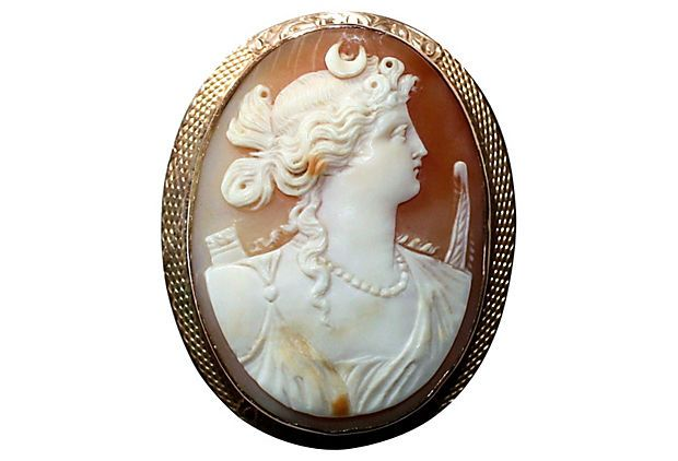 14K Gold Cameo of the Goddess Diana on OneKingsLane.com   $665.00