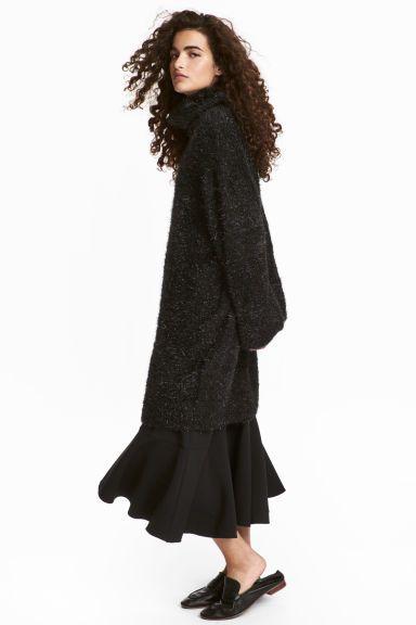 Zwarte jurk col