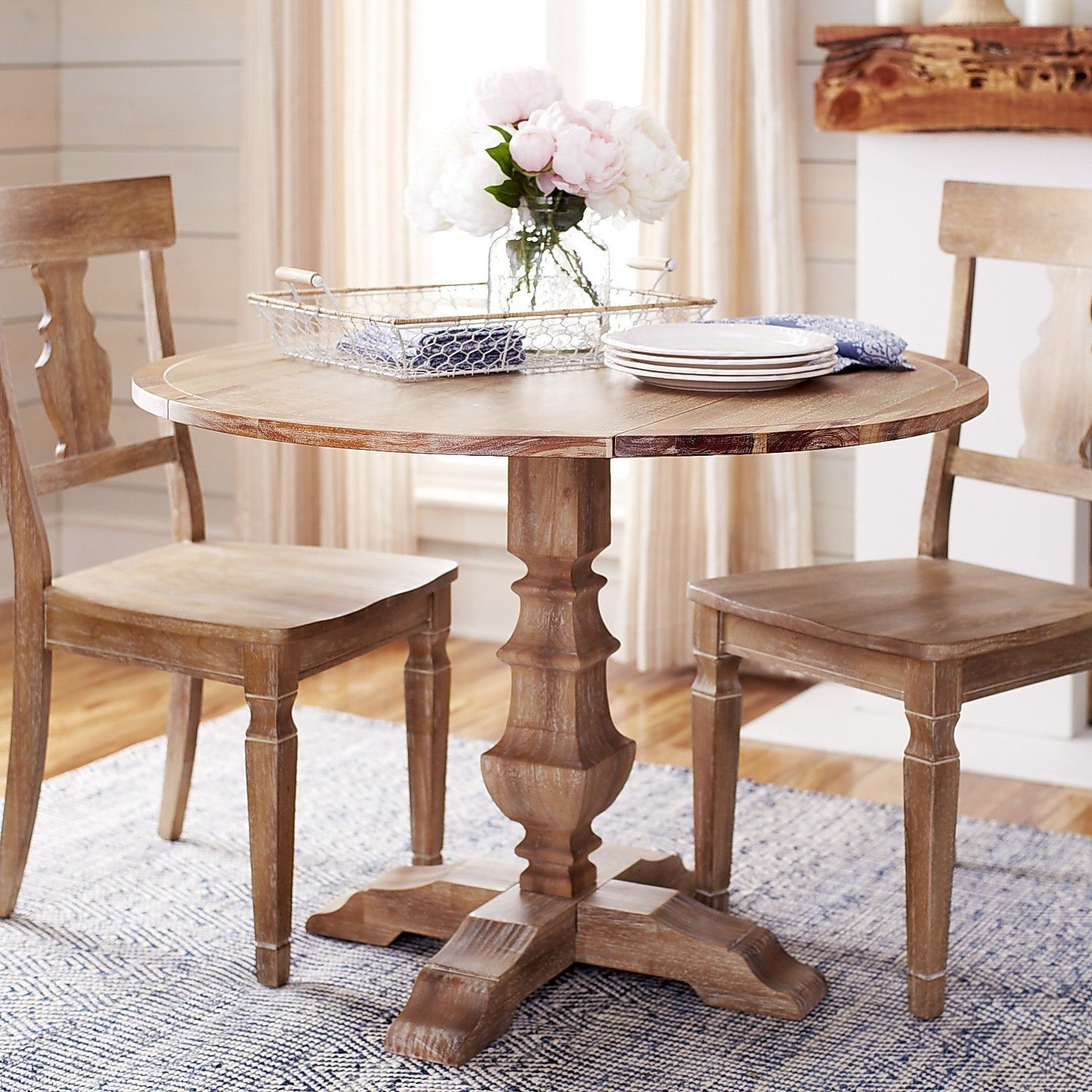 Bradding Natural Stonewash Drop Leaf Dining Table | Dining sets ...