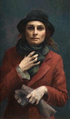 """Louise C. Fenne - Portraits...""""Late Autumn Self Portrait"""""""