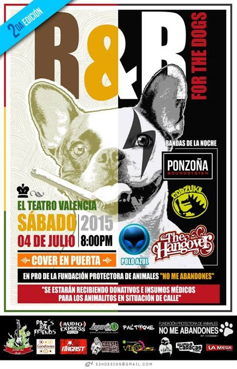 "Cresta Metálica Producciones » El Teatro Bar Valencia presenta: ""2da. Edición R&B For The Dogs"" // 4 Julio 2015"