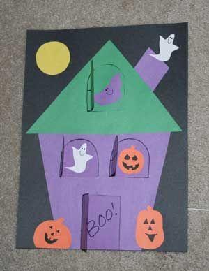 Lift The Flap Haunted House Fun Family Crafts Halloween Preschool Halloween Kindergarten Halloween Crafts For Kids