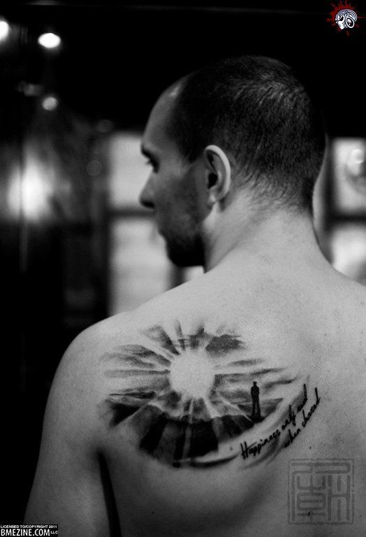 Black And White Sunset Tattoos: Sunrise Tattoo Black And White - Google Search