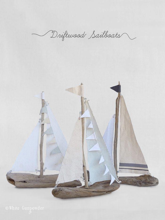 Diy Driftwood Sailboats Gettin Crafty Pinterest Treibholz
