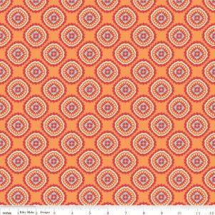Avignon Damask in Orange