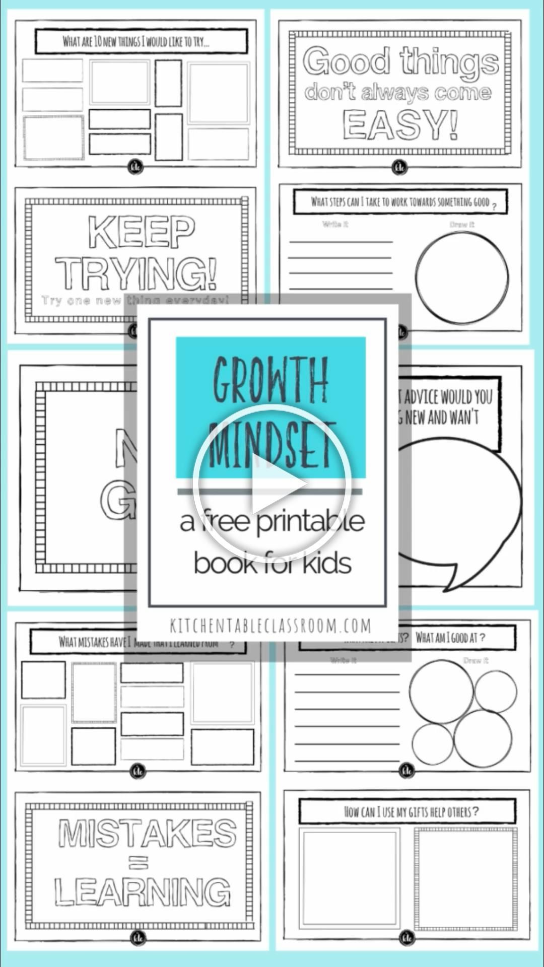 Inspire A Growth Mindset For Kids With This Free Printable